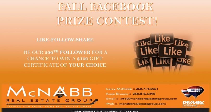 Fall Facebook Contest!